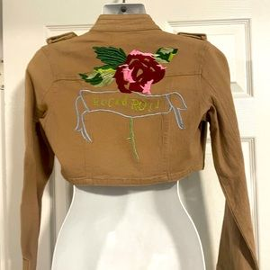 American jeans cropped jacket, brown, size S